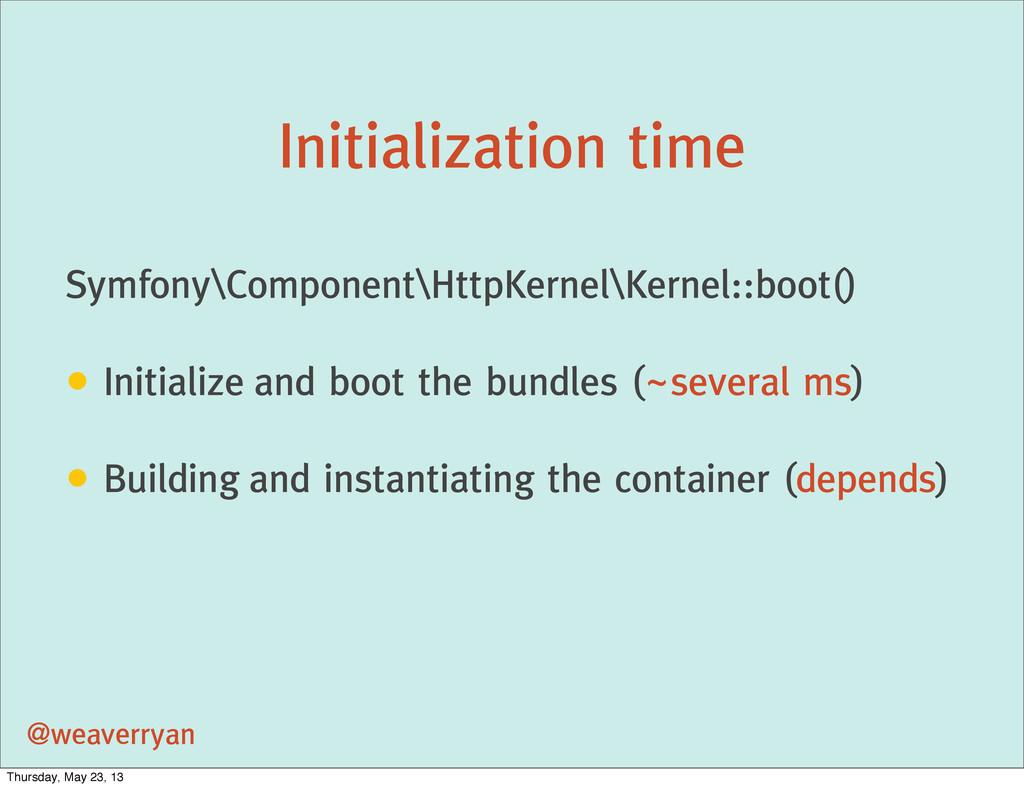 Initialization time @weaverryan Symfony\Compone...