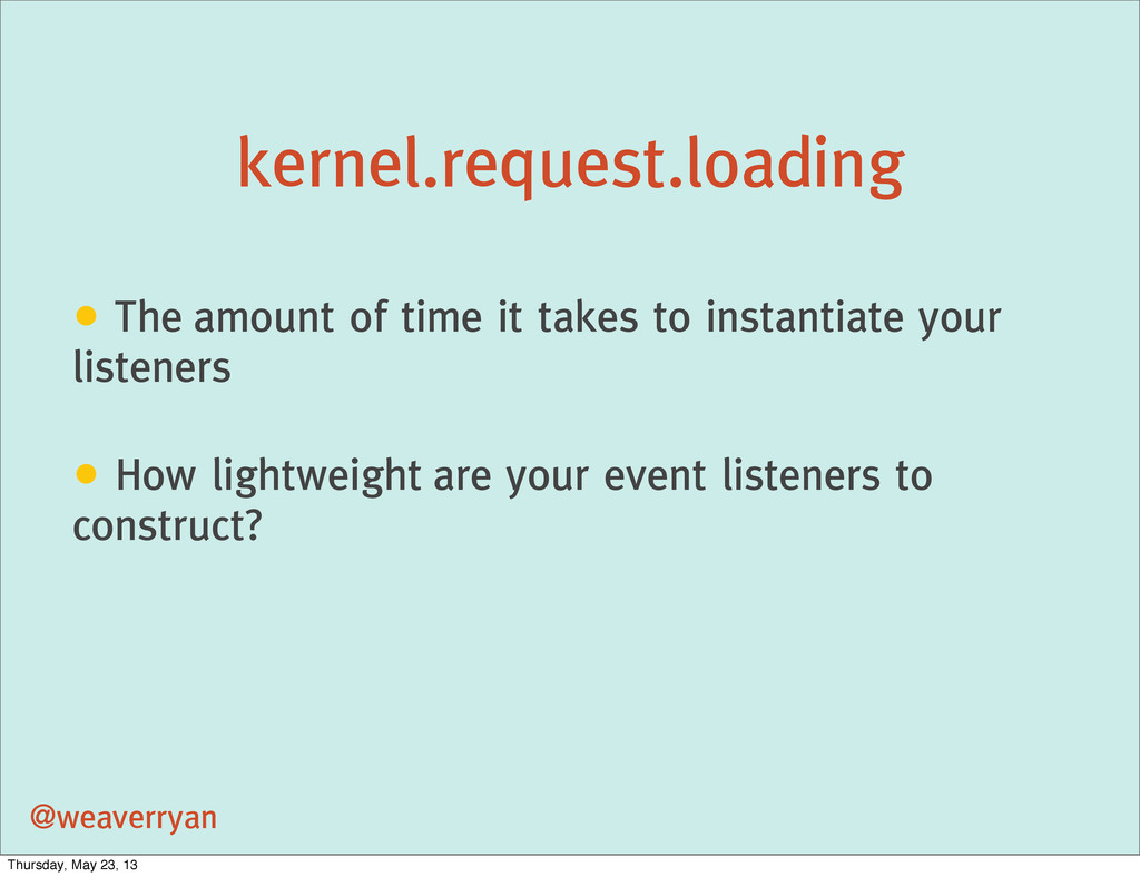 kernel.request.loading @weaverryan • The amount...
