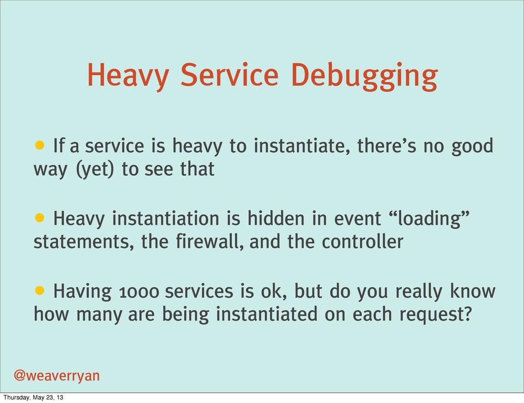 Heavy Service Debugging @weaverryan • If a serv...