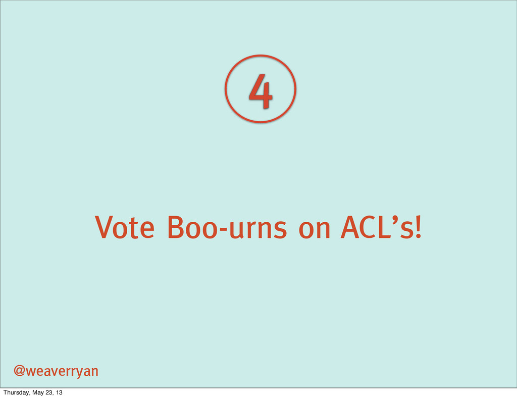 Vote Boo-urns on ACL's! @weaverryan 4 Thursday,...
