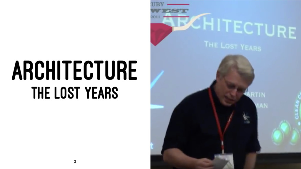 ARCHITECTURE THE LOST YEARS 3