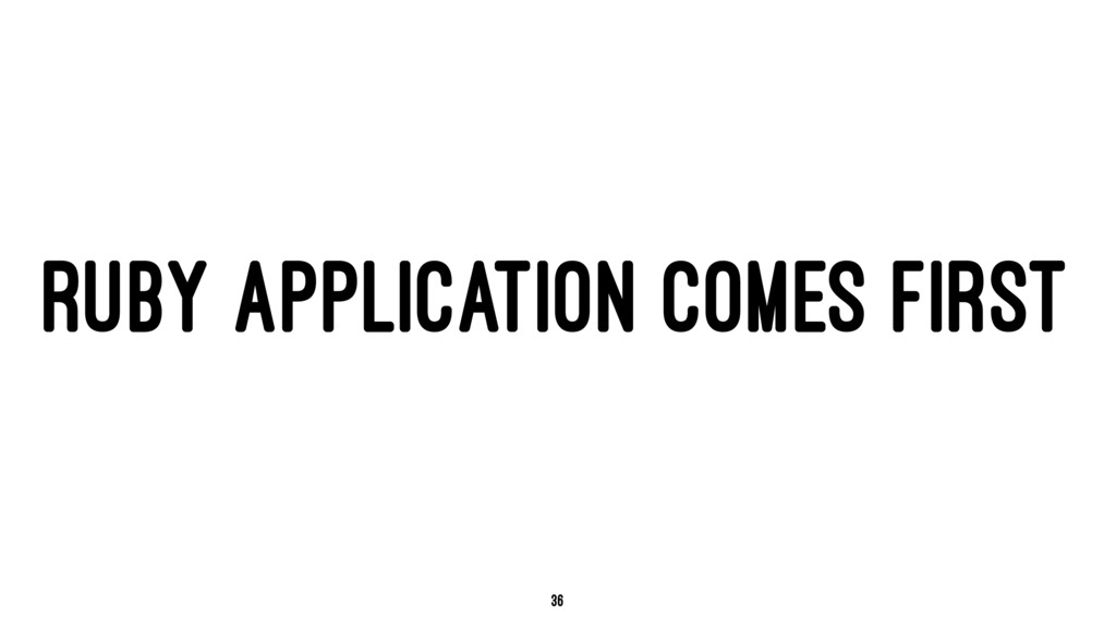 RUBY APPLICATION COMES FIRST 36