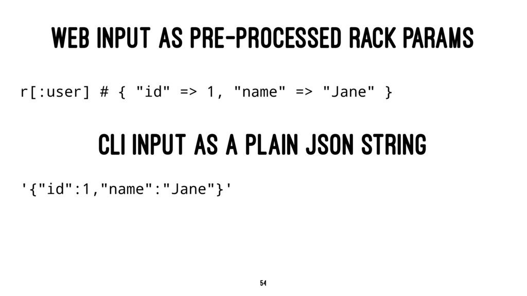 WEB INPUT AS PRE-PROCESSED RACK PARAMS r[:user]...