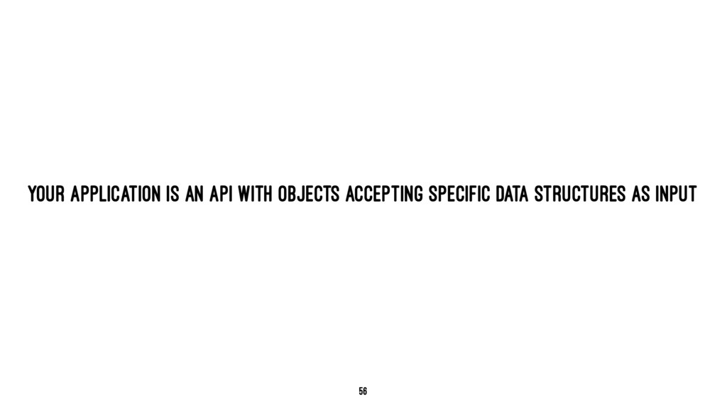 YOUR APPLICATION IS AN API WITH OBJECTS ACCEPTI...