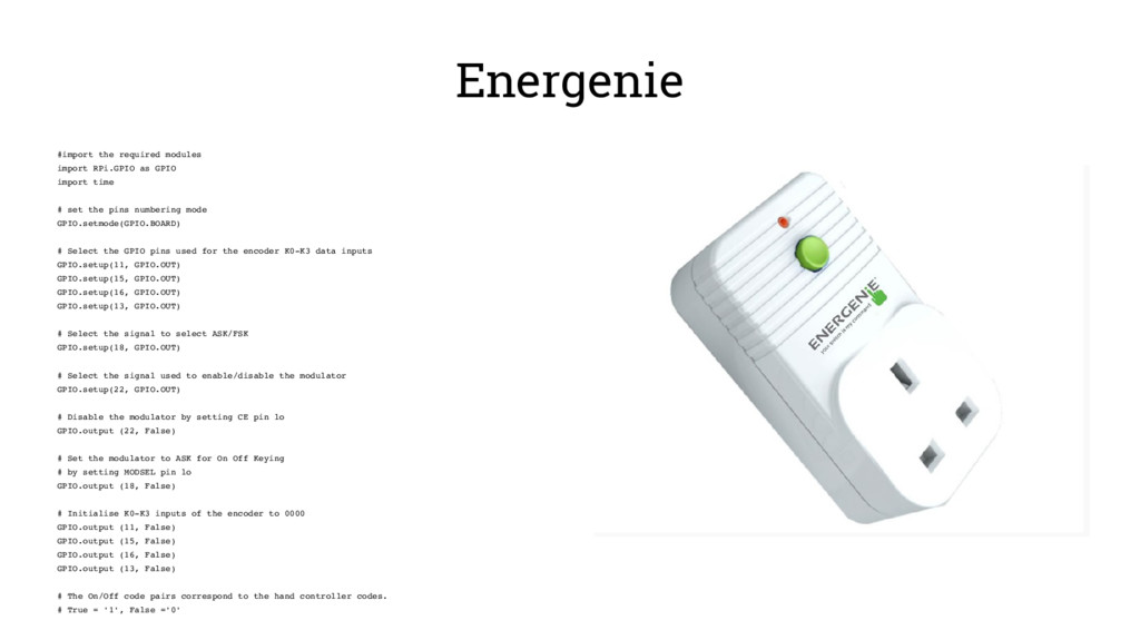 Energenie #import the required modules import R...