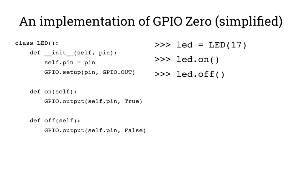 An implementation of GPIO Zero (simplified) cla...