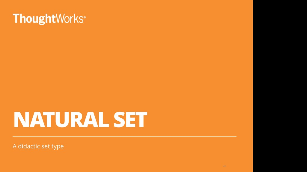 NATURAL SET A didactic set type 22