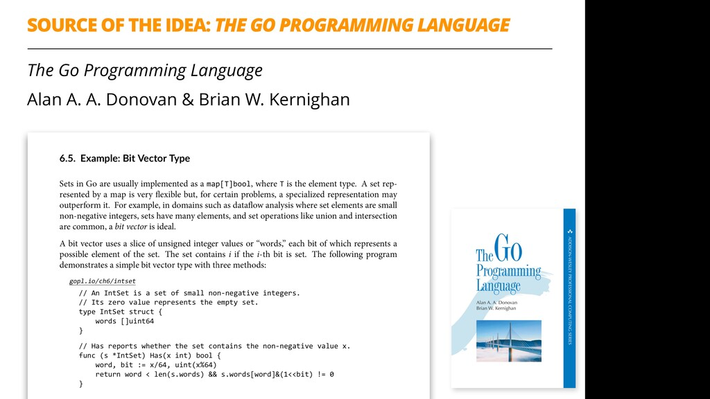 SOURCE OF THE IDEA: THE GO PROGRAMMING LANGUAGE...