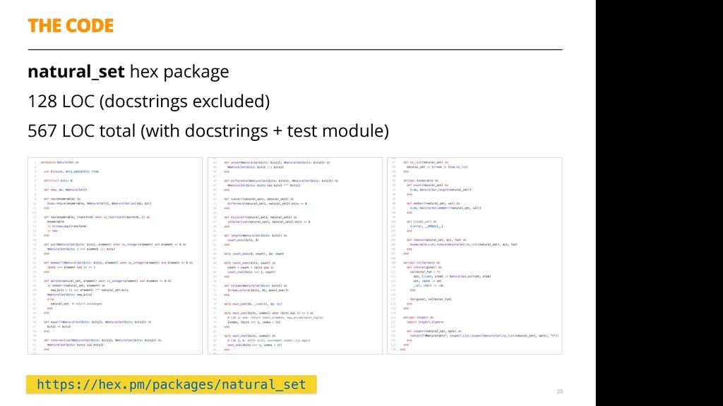 natural_set hex package 128 LOC (docstrings exc...