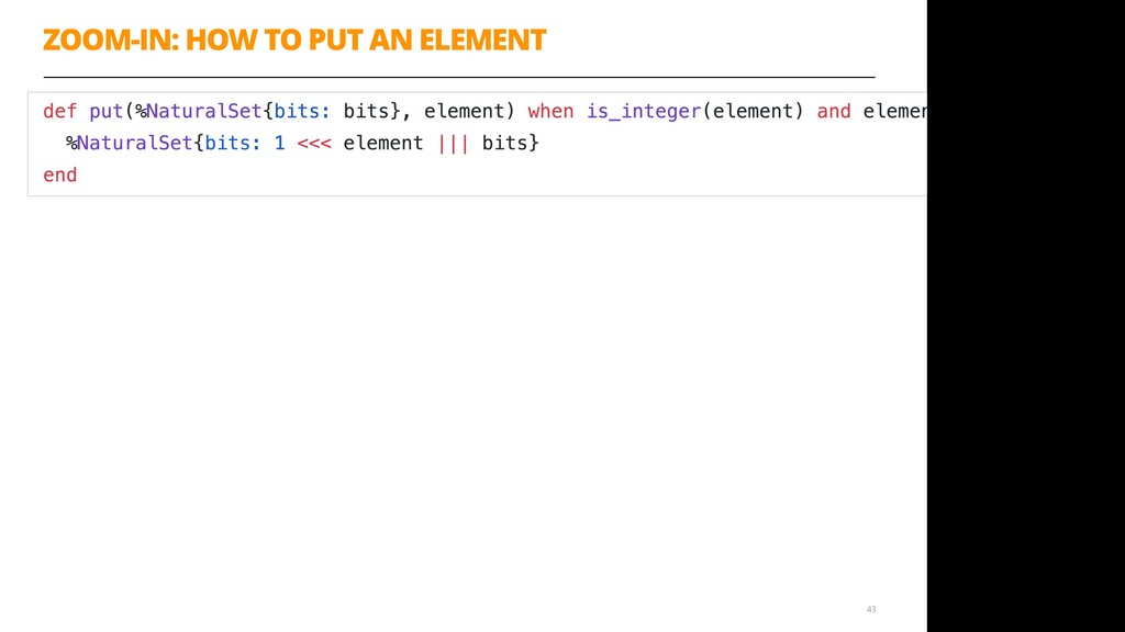 ZOOM-IN: HOW TO PUT AN ELEMENT 43