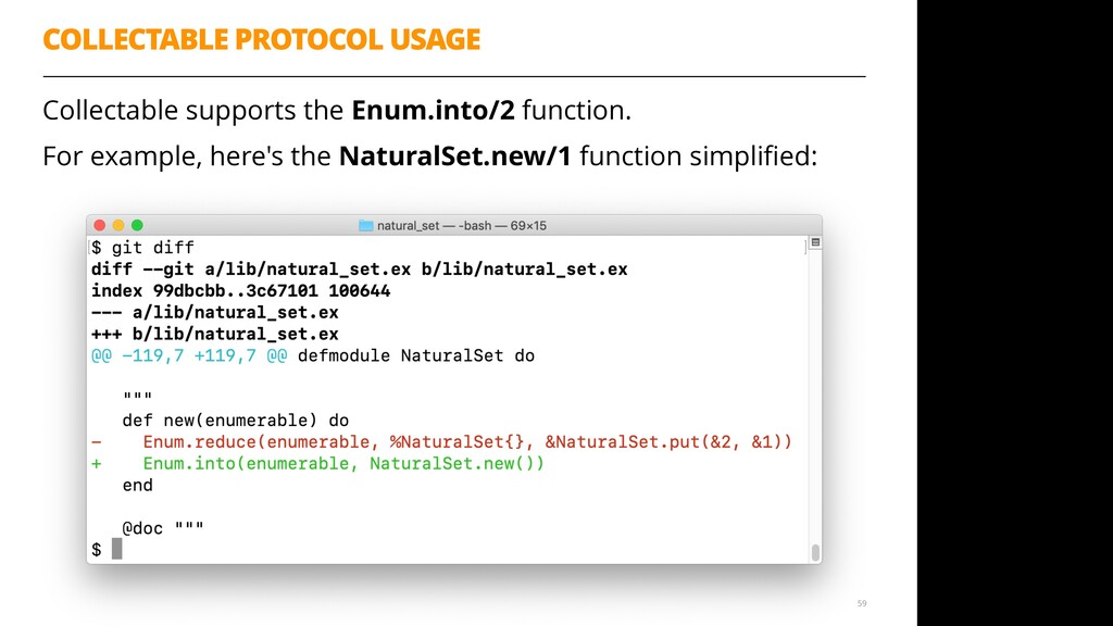 COLLECTABLE PROTOCOL USAGE Collectable supports...