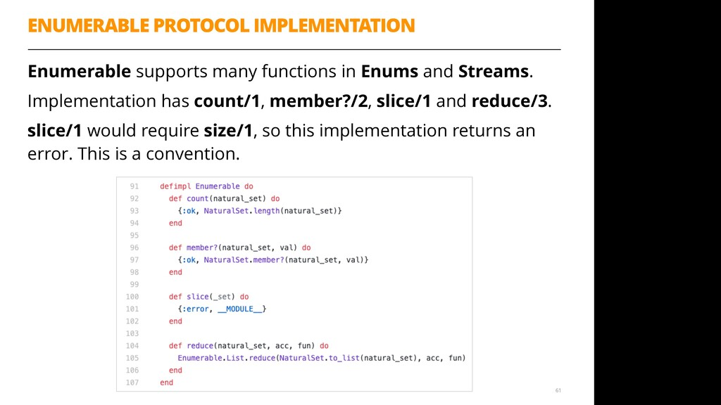 Enumerable supports many functions in Enums and...