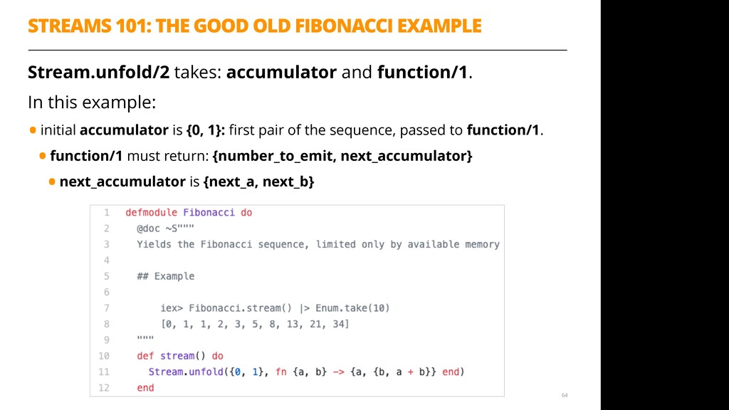 STREAMS 101: THE GOOD OLD FIBONACCI EXAMPLE Str...