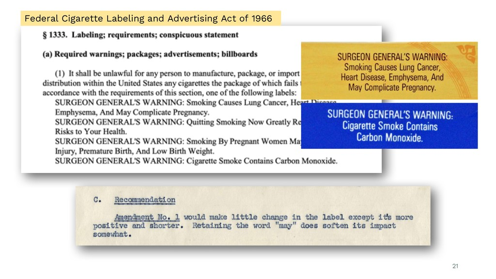 21 Federal Cigarette Labeling and Advertising A...