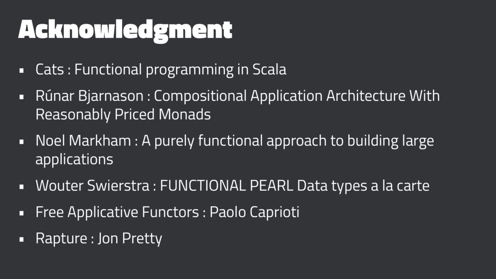 Acknowledgment • Cats : Functional programming ...