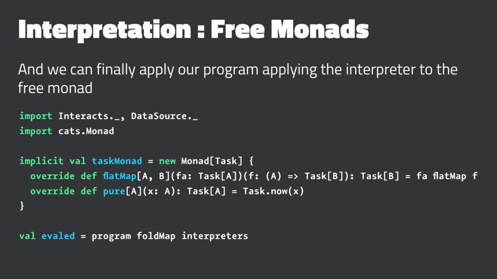 Interpretation : Free Monads And we can finally...
