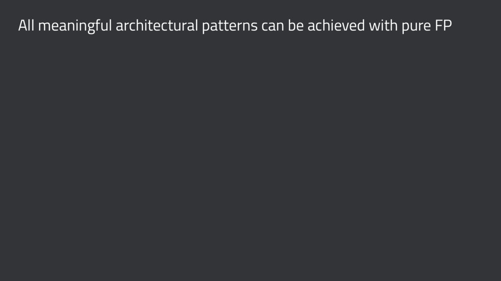 All meaningful architectural patterns can be ac...