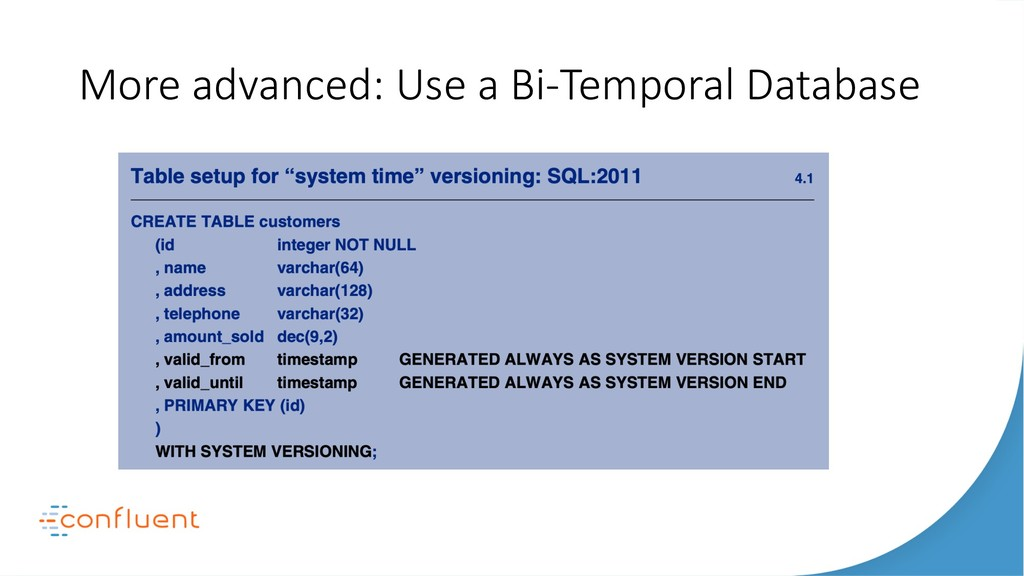 More advanced: Use a Bi-Temporal Database