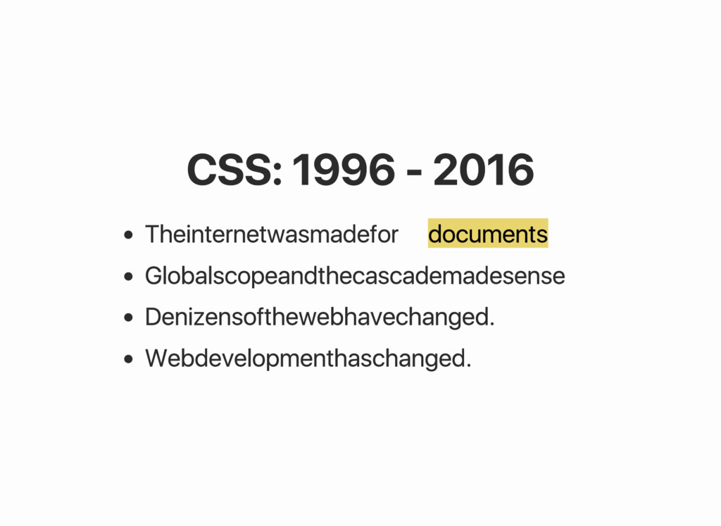 CSS: 1996 ‑ 2016 The internet was made for docu...