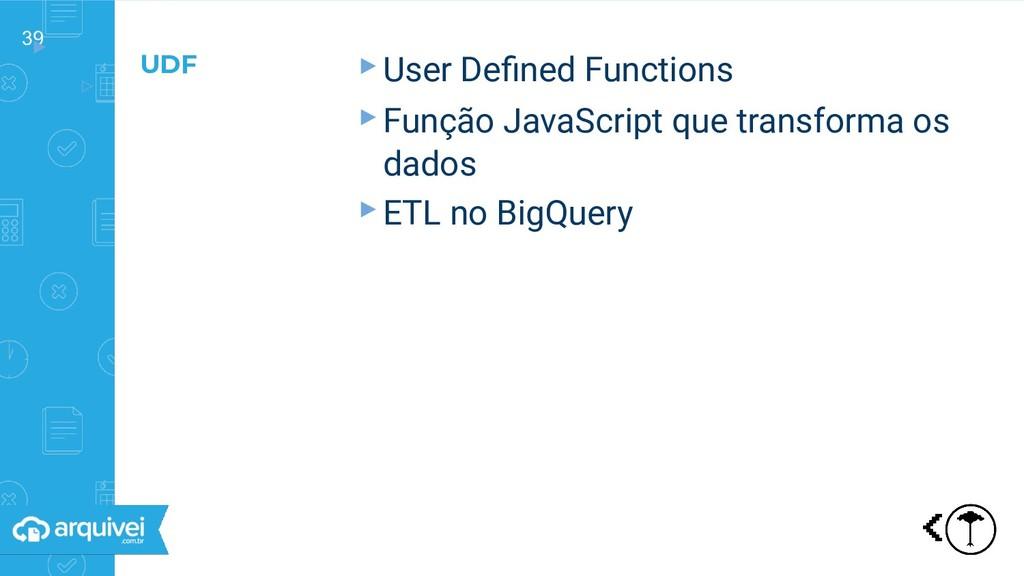 39 ▸ ▹ ▸User Defined Functions ▸Função JavaScrip...