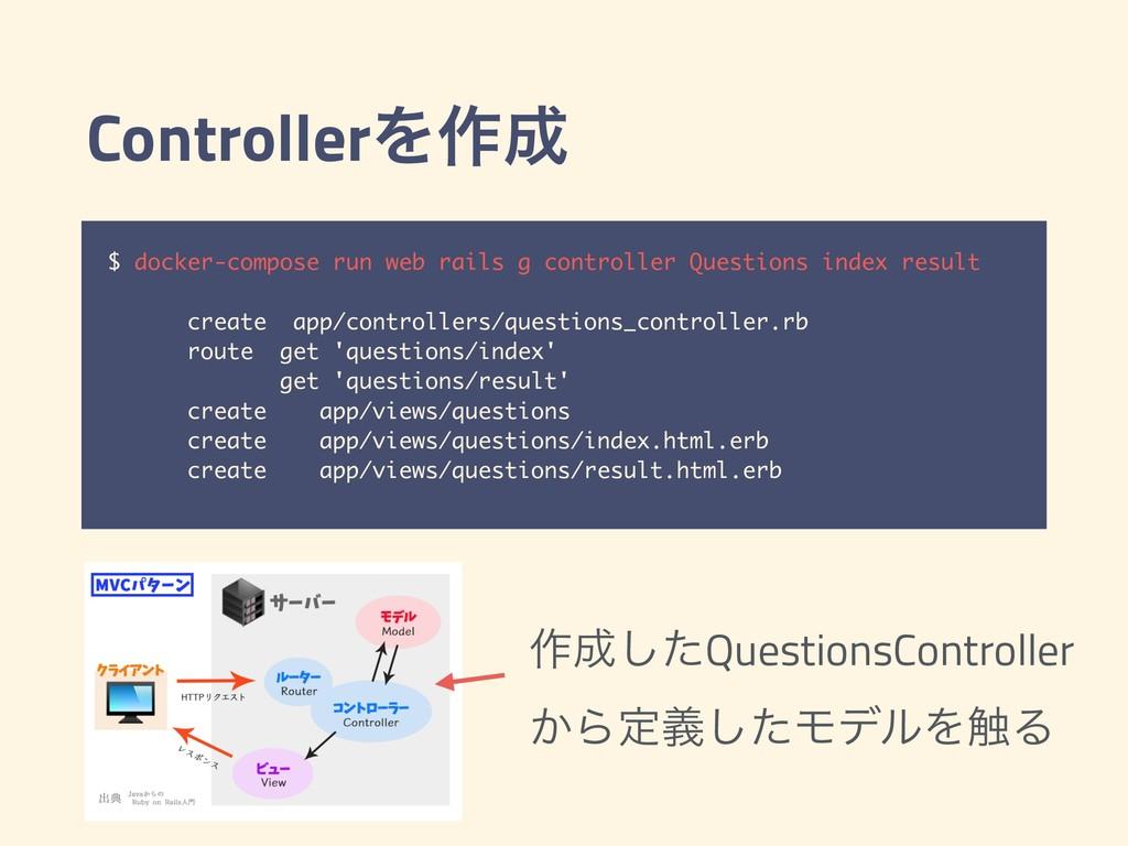 ControllerΛ࡞ $ docker-compose run web rails g ...