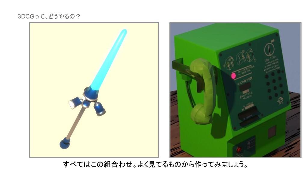 3DCGって、どうやるの? すべてはこの組合わせ。よく見てるものから作ってみましょう。