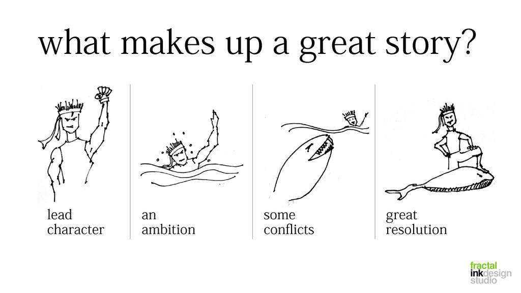 what makes up a great story? lead character an ...