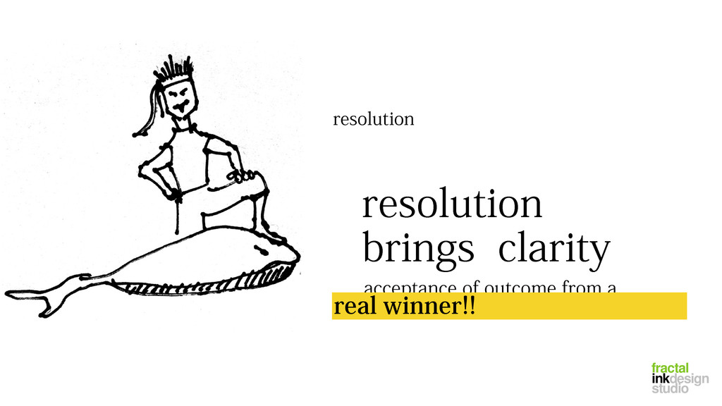 resolution resolution brings clarity acceptance...