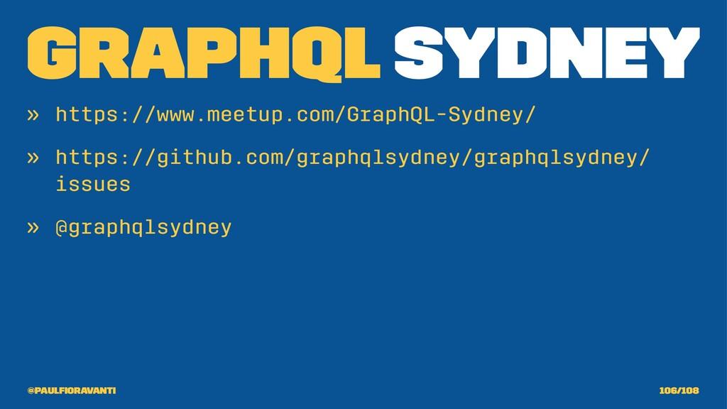 GraphQL Sydney » https://www.meetup.com/GraphQL...