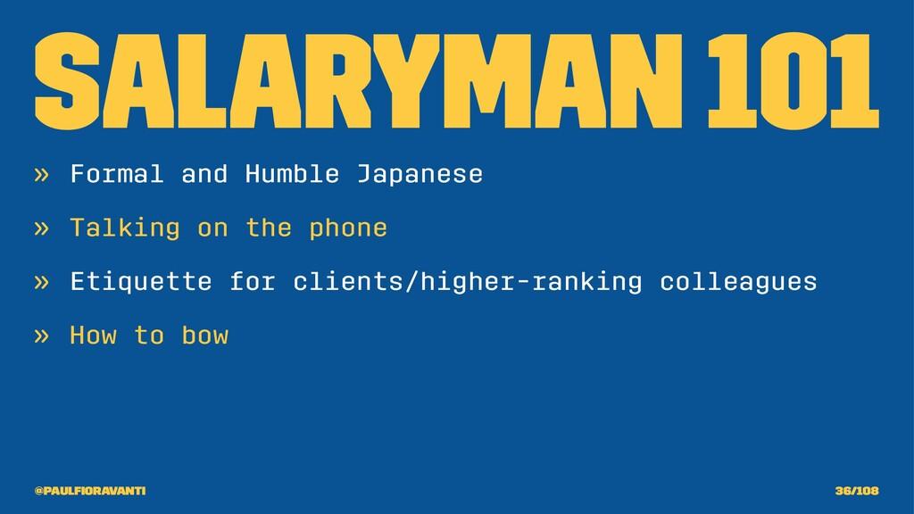 Salaryman 101 » Formal and Humble Japanese » Ta...