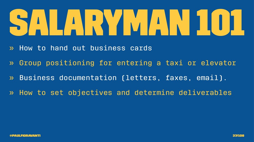 Salaryman 101 » How to hand out business cards ...