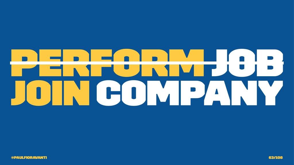 Perform Job Join Company @paulfioravanti 63/108