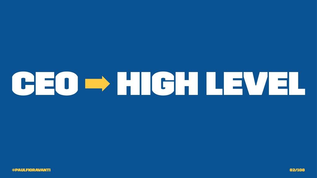 CEO ➡ High Level @paulfioravanti 82/108
