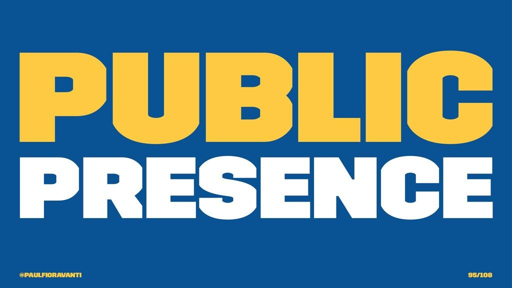 Public Presence @paulfioravanti 95/108