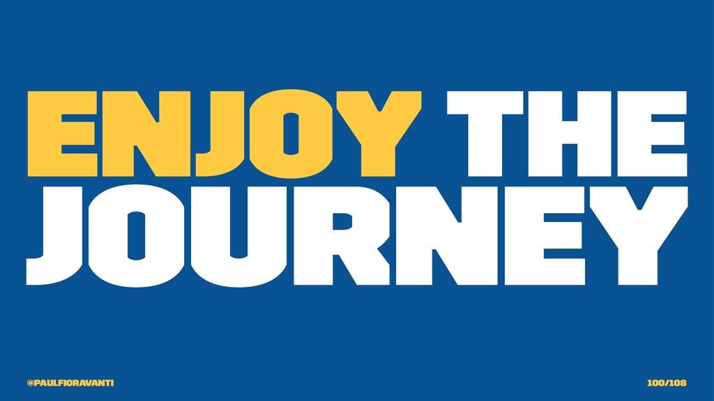 Enjoy the journey @paulfioravanti 100/108