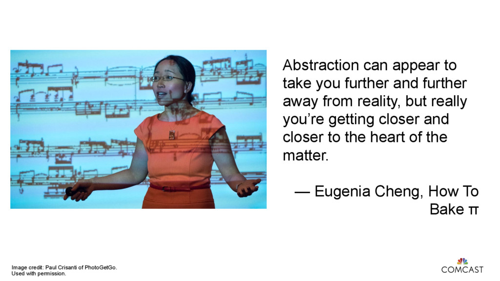 Abstraction can appear to take you further and ...
