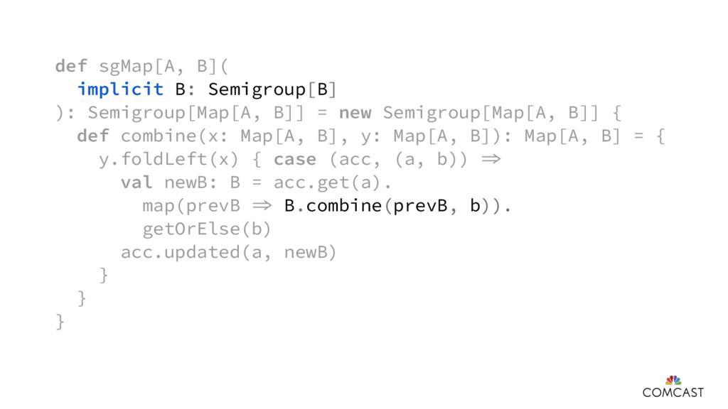 def sgMap[A, B]( implicit B: Semigroup[B] ): Se...