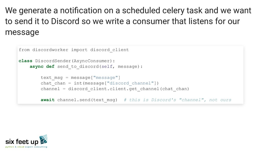 We generate a notification on a scheduled celer...