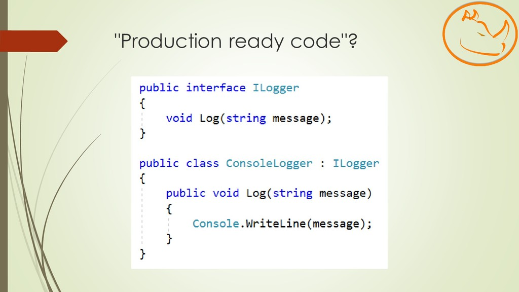 """Production ready code""?"