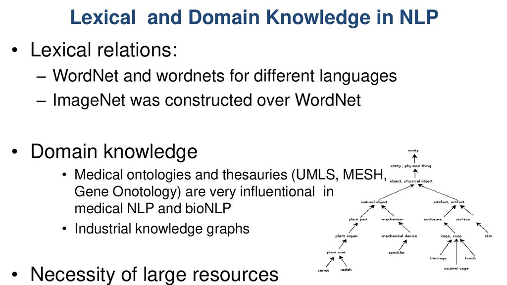 Lexical and Domain Knowledge in NLP • Lexical r...