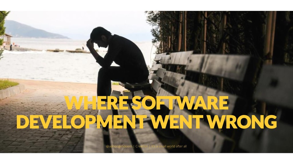 WHERE SOFTWARE DEVELOPMENT WENT WRONG @aahoogen...