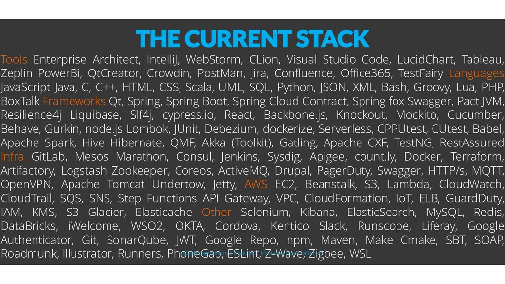 THE CURRENT STACK Tools Enterprise Architect, I...