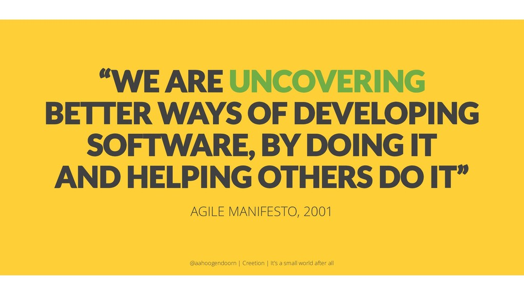 """""""WE ARE UNCOVERING BETTER WAYS OF DEVELOPING SO..."""
