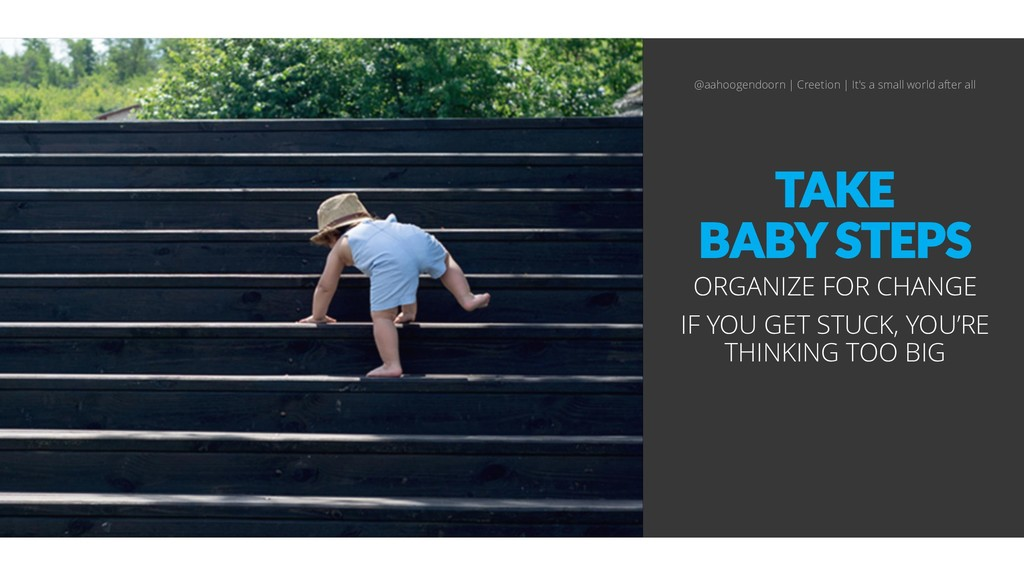 TAKE BABY STEPS ORGANIZE FOR CHANGE IF YOU GET ...