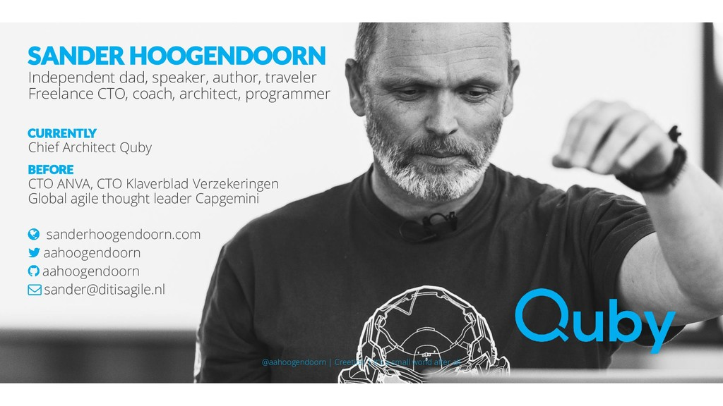 SANDER HOOGENDOORN Independent dad, speaker, au...