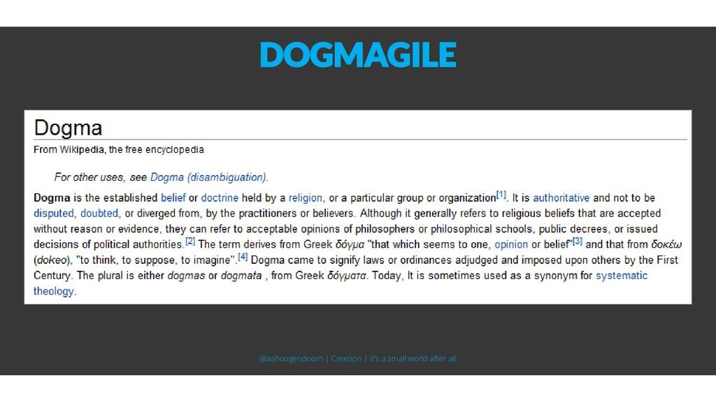 DOGMAGILE @aahoogendoorn | Creetion | It's a sm...
