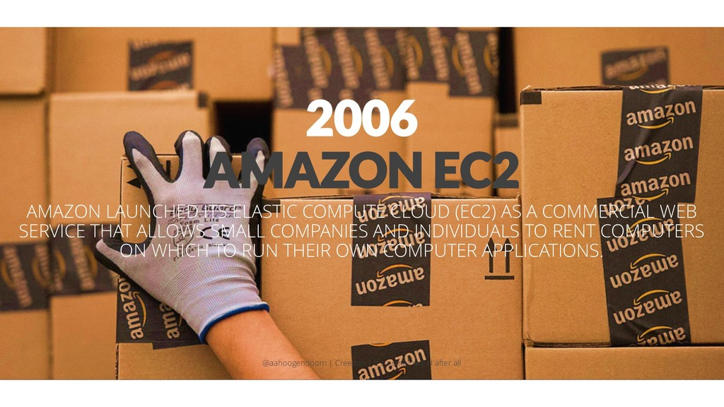 2006 AMAZON EC2 AMAZON LAUNCHED ITS ELASTIC COM...