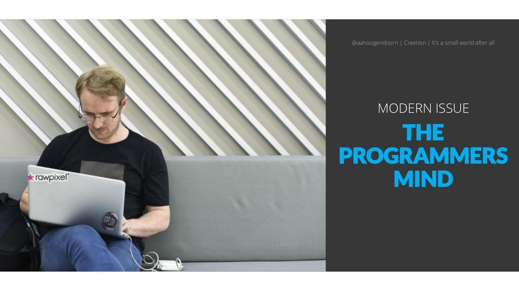 THE PROGRAMMERS MIND MODERN ISSUE @aahoogendoor...