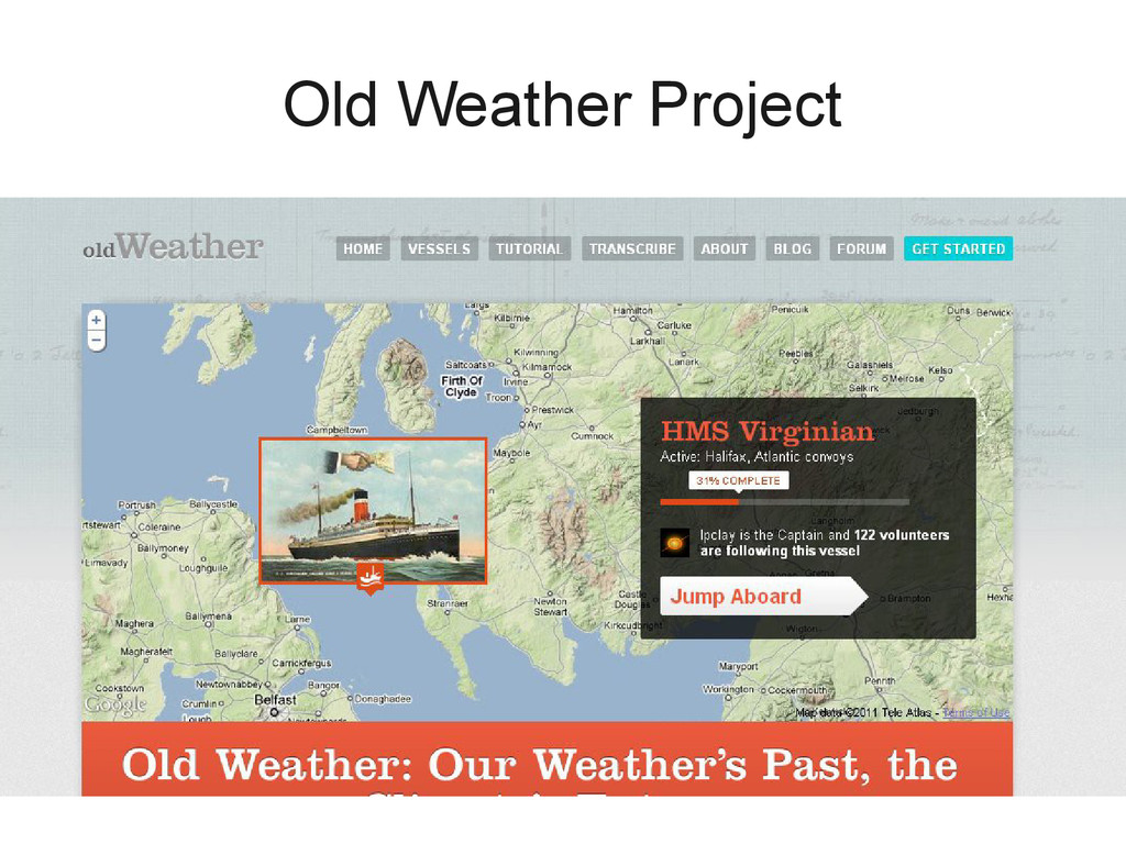Old Weather Project