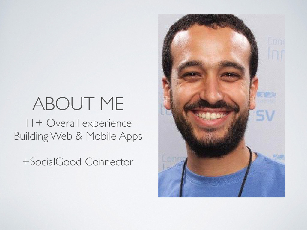 ABOUT ME 11+ Overall experience Building Web & ...